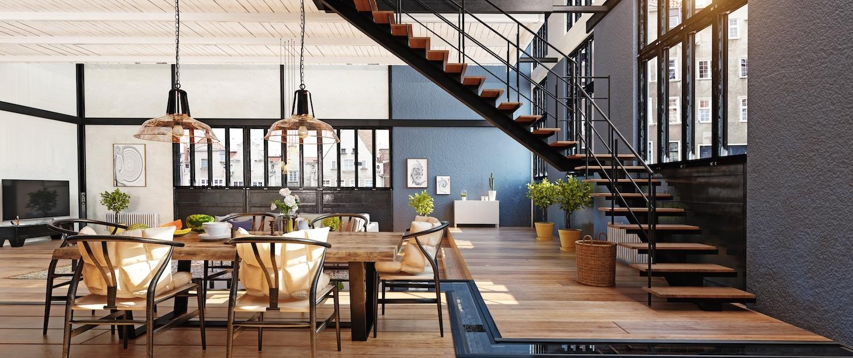 Loft contemporain intérieur design